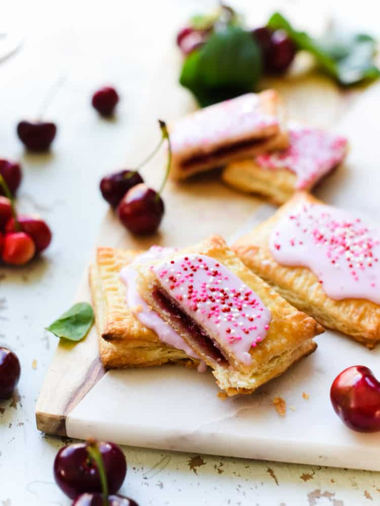 Homemade pop tarts are easy hand pies that kids and grown ups will love! You'll love these pockets of cherry goodness!