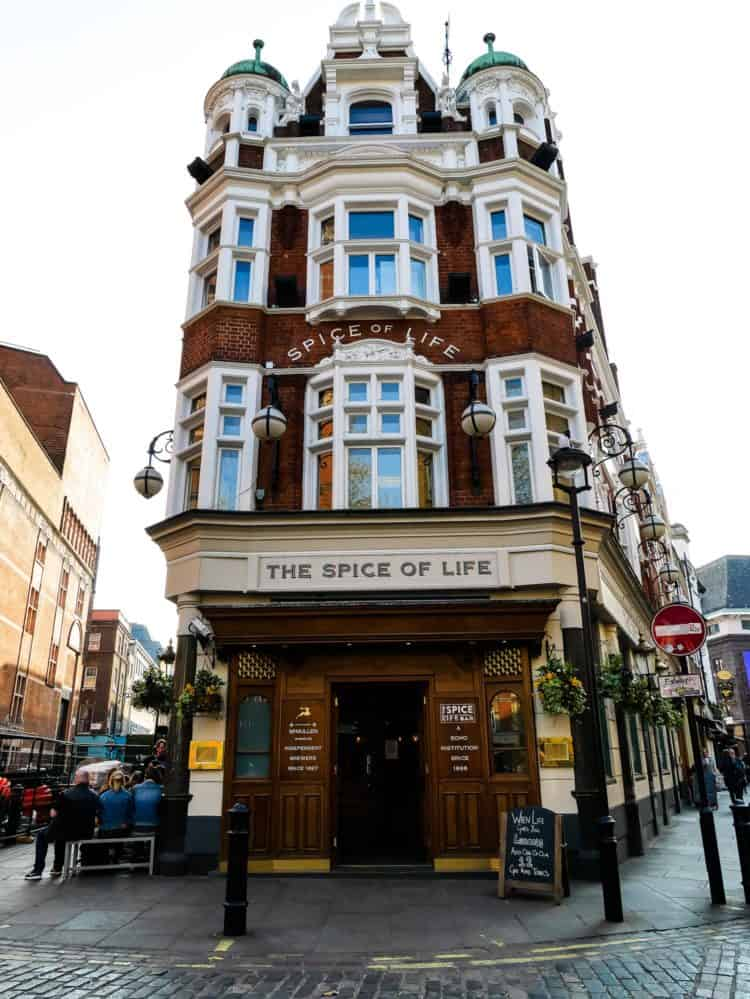The Spice of Life - pub in London. Find out more in my Family Travel Guide.