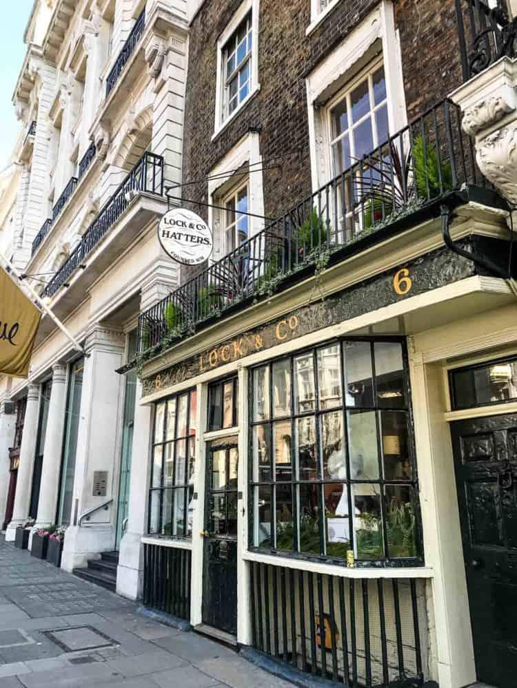 Lock & Co Hatters, London.