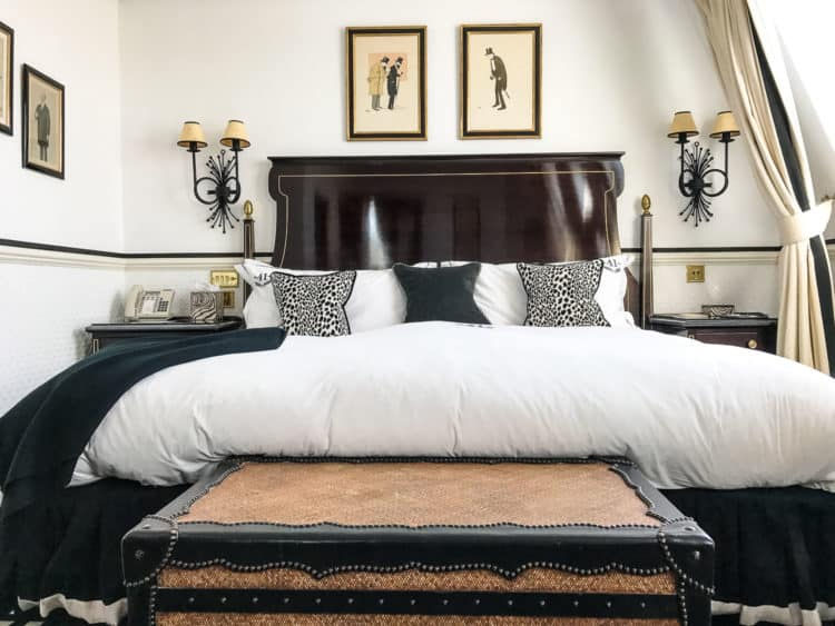 A cozy bed awaits at Hotel 41 in London. Find out more in A Taste of London: A Family Travel Guide.