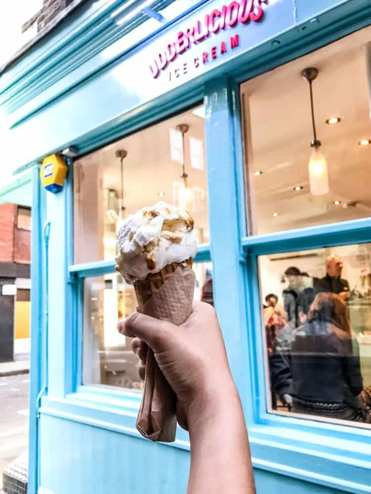 Udderlicious London ice cream.