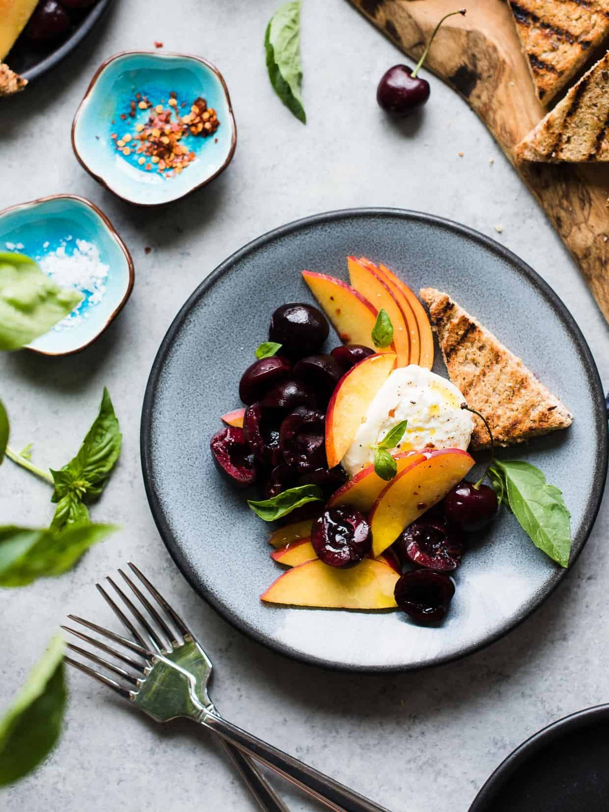 Burrata with Stone Fruit | Kitchen Confidante®