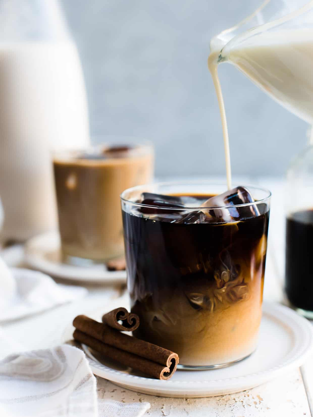 You deserve a treat -- make your iced coffee even more special by making it with homemade horchata! Try this easy recipe for Horchata Cold Brew Latte!