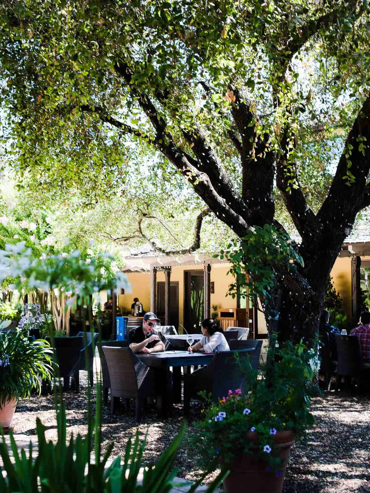 The grounds at Landmark Vineyards offer a cozy place to spend the afternoon for tasting.