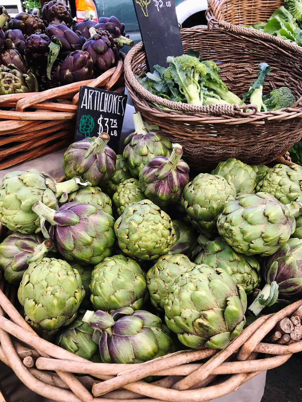 Artichokes at the Farmer's Market at Ferry Building.