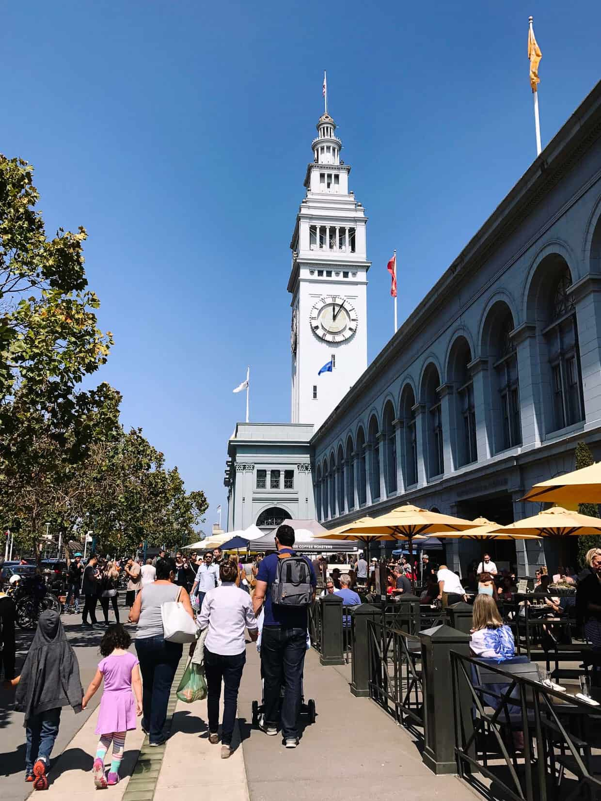 The Ferry Building in San Francisco is home to one of the best farmer's markets in California.