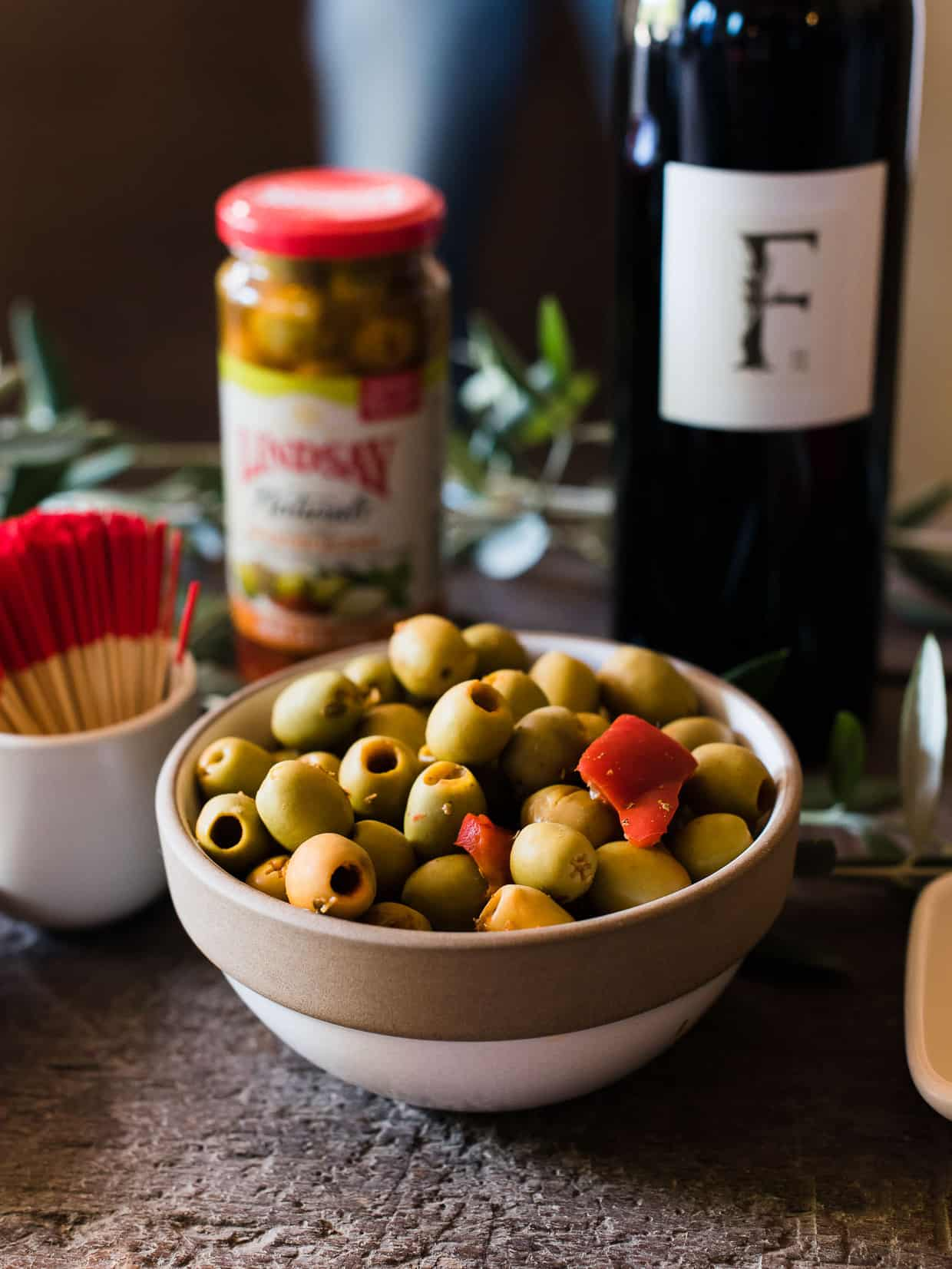 Olive and wine pairing