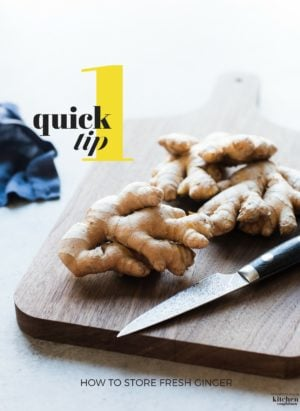 Have you ever bought a large knob of fresh ginger and wondered how to store it? Learn how I peel and store fresh ginger with One Quick Tip!