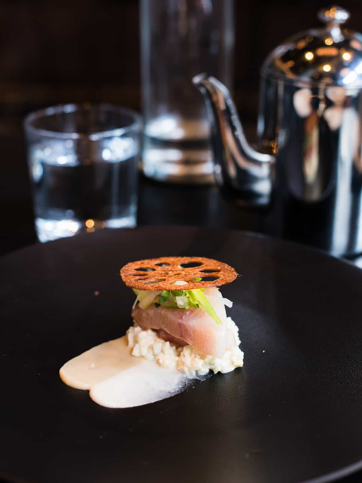 Hamachi Crudo at Villon San Francisco