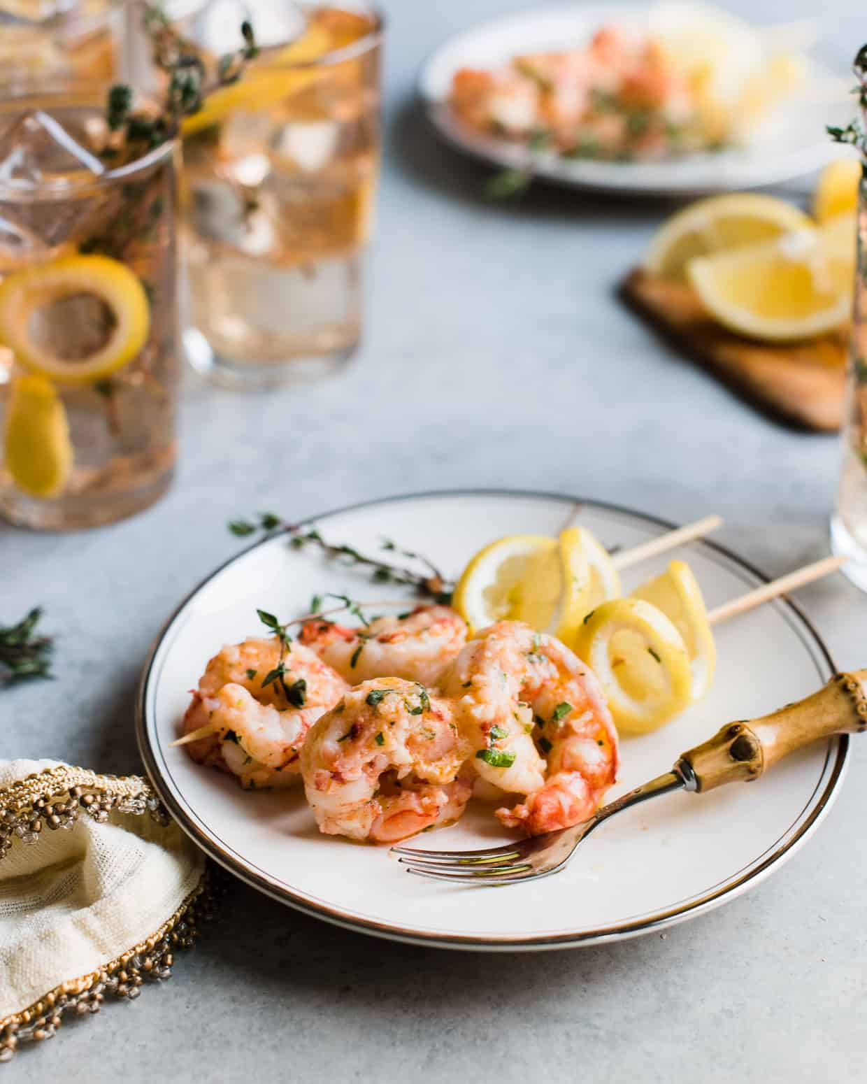 Ginger Lemon Shrimp - whether you serve it as an appetizer or as part of a meal, you'll love how quickly this cooks in no time!