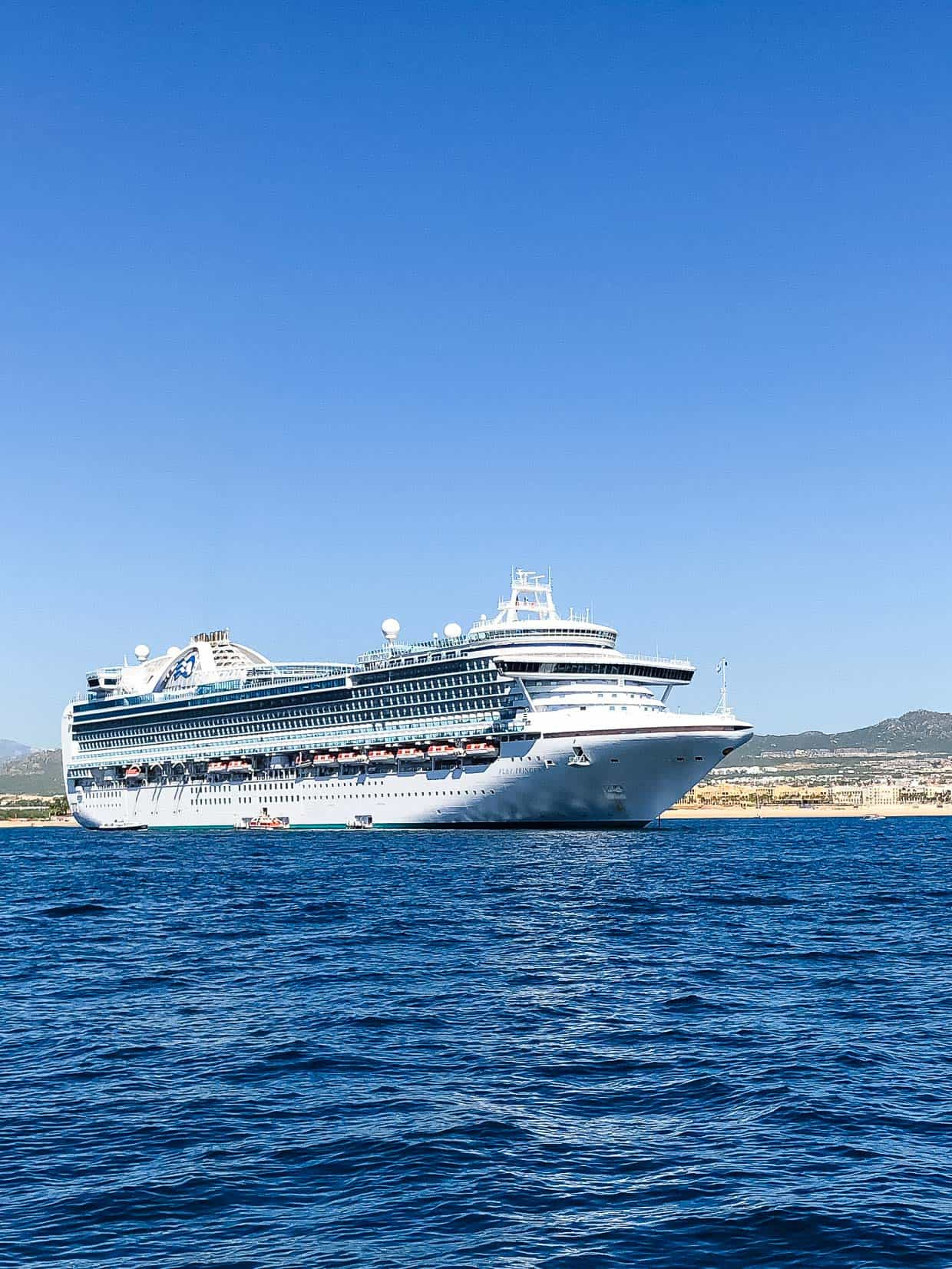The Ruby Princess at port. #ad Find out why we loved cruising the Mexican Riviera with Princess Cruises!
