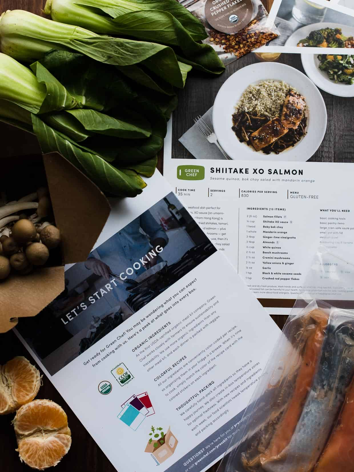 recipes from Green Chef