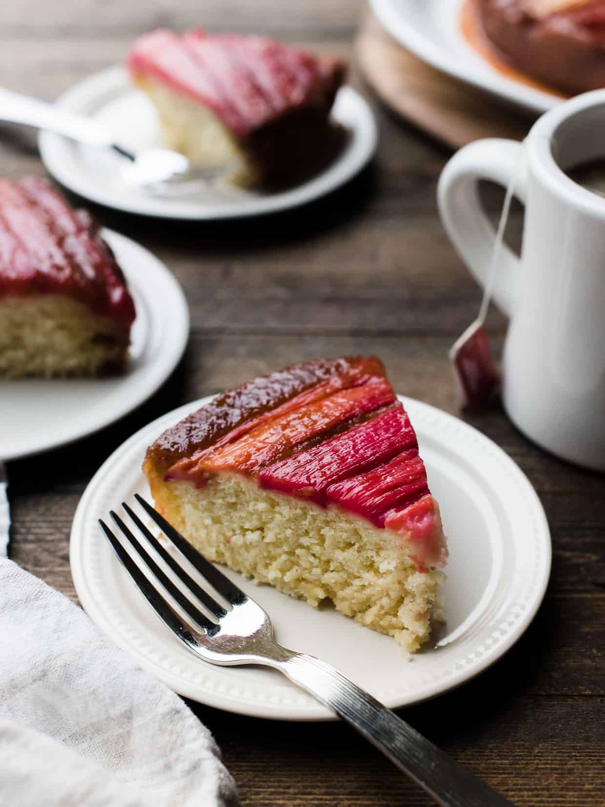 Rhubarb Upside Down Cake Kitchen Confidante