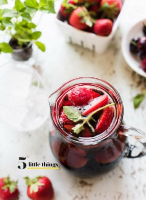 Summer sangria with rum is one of Five Little Things I loved the week of August 17, 2018.