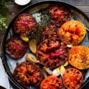 Roasted tomatoes are simple food and one of Five Little Things I loved the week of September 28, 2018.