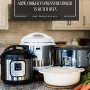 Slow cooker, multi-cooker, pressure cooker, Dutch oven in kitchen