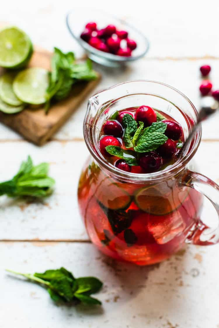 Cranberry Pomegranate Mojito Pitcher