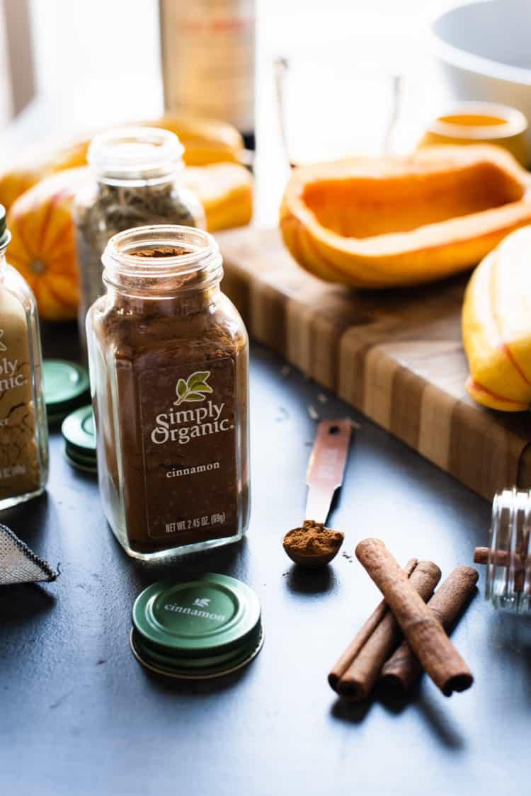 Simply Organic cinnamon for Maple Cinnamon Hasselback Delicata Squash.