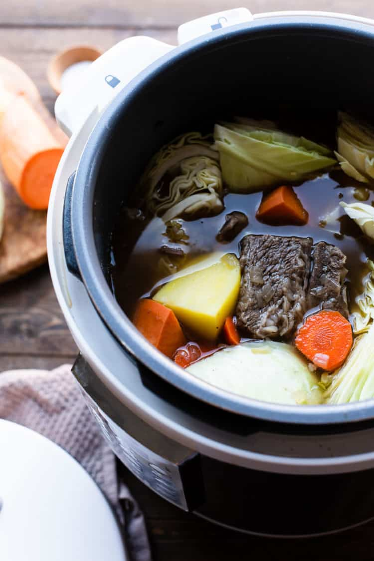 Beef Nilaga - Filipino Beef and Vegetable Soup in a pressure cooker (Instant Pot).