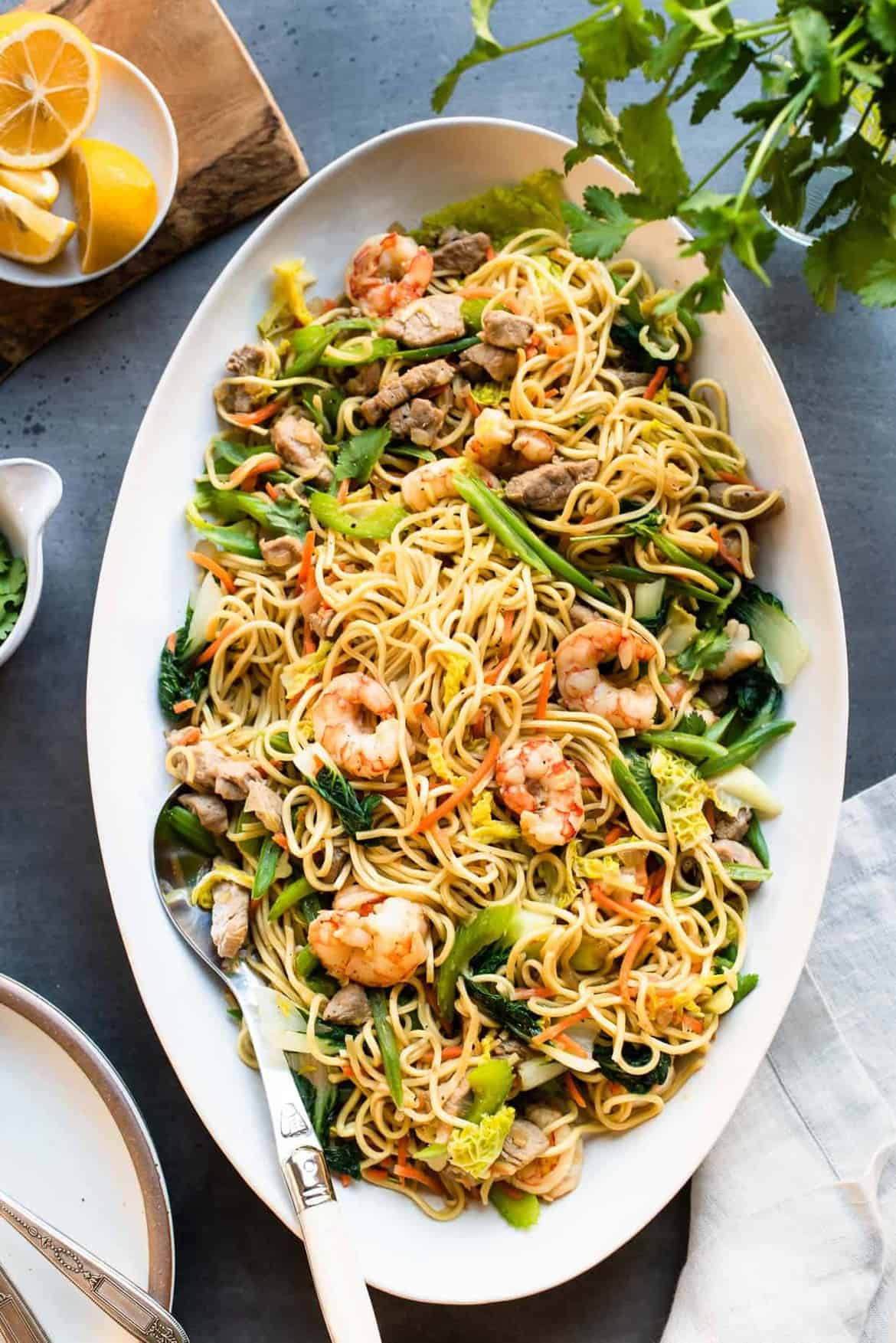 Pancit Canton Filipino Stir Fried Noodles Kitchen Confidante
