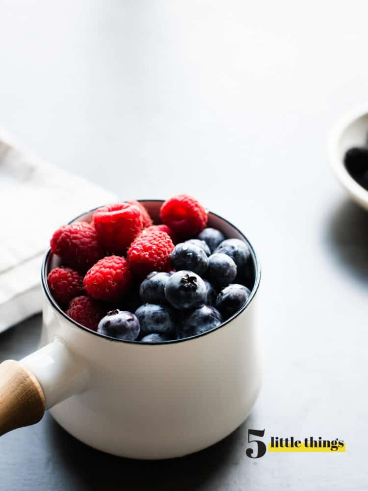 Fresh berries in a cup.