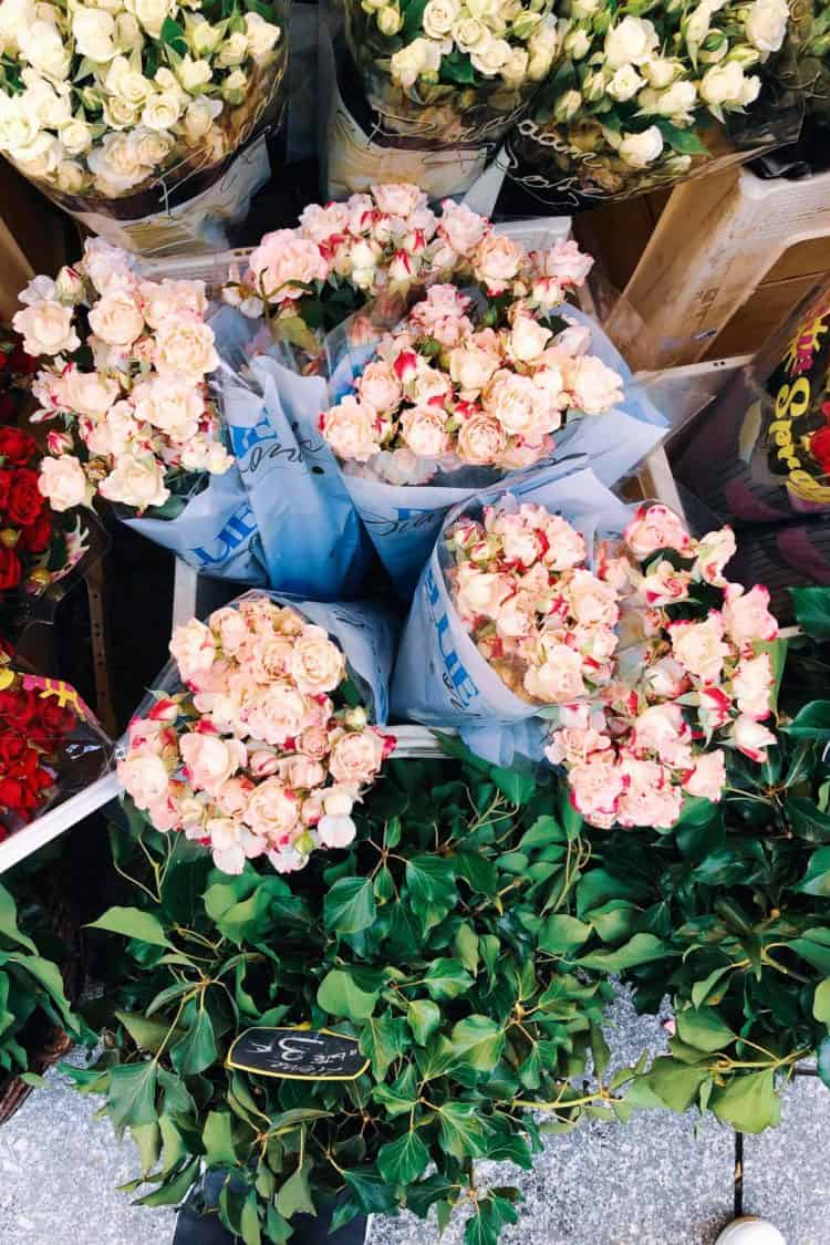 Flower market in Paris, France