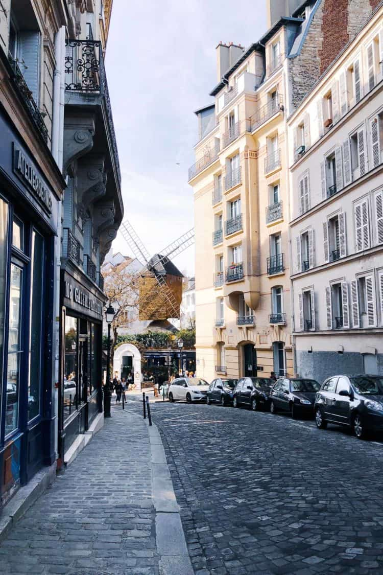 Streets of Montmartre, Paris.