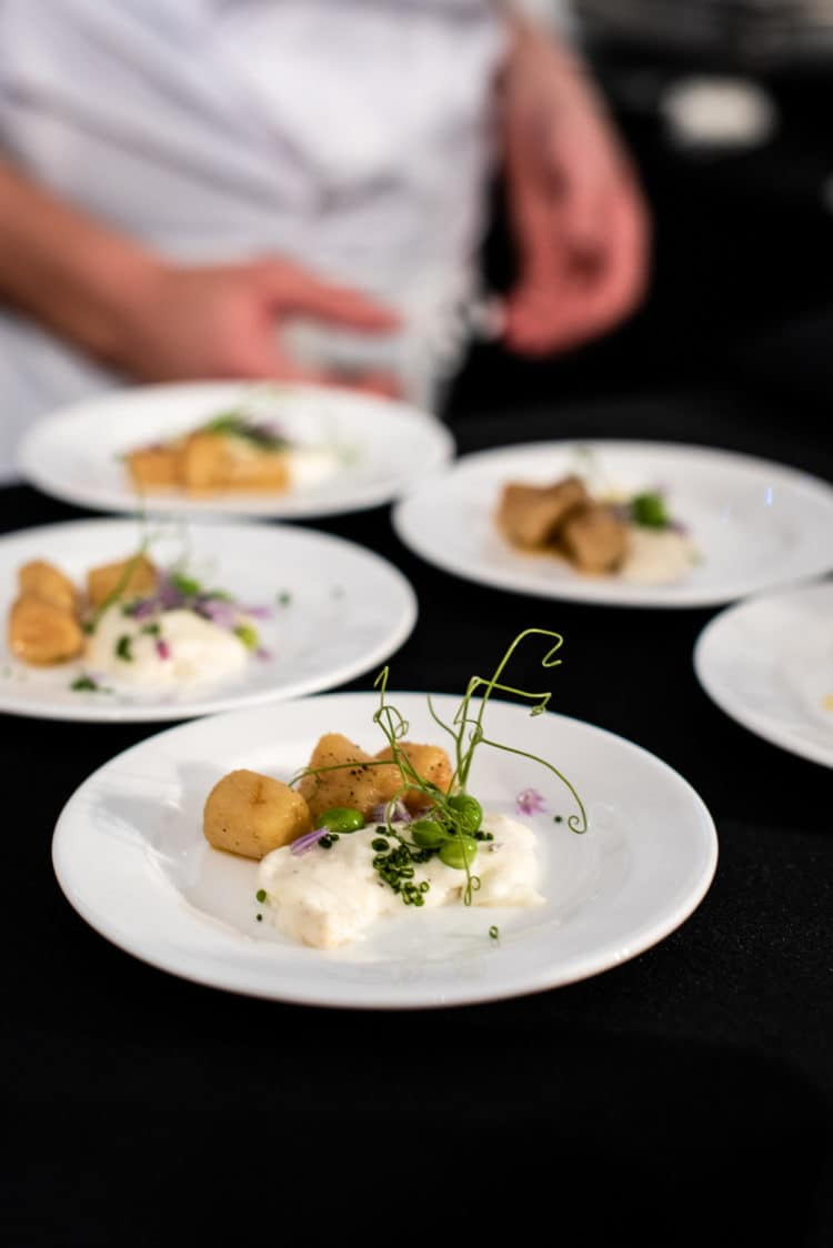 Potato Gnocchi from Chef Dominique Ansel of 189 by Dominique Ansel, PBFW Grand Tasting, 2019.