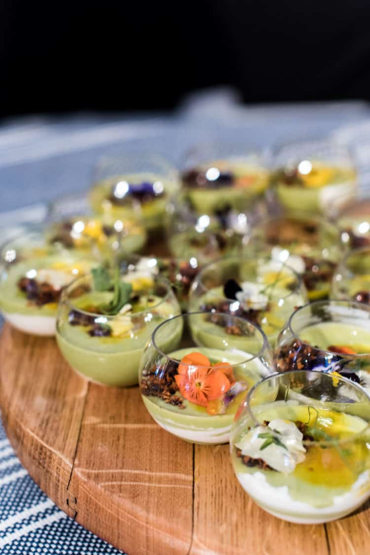 Petite Pois a la Francaise from Chef Vincent Lesage, PBFW Grand Tasting, 2019.