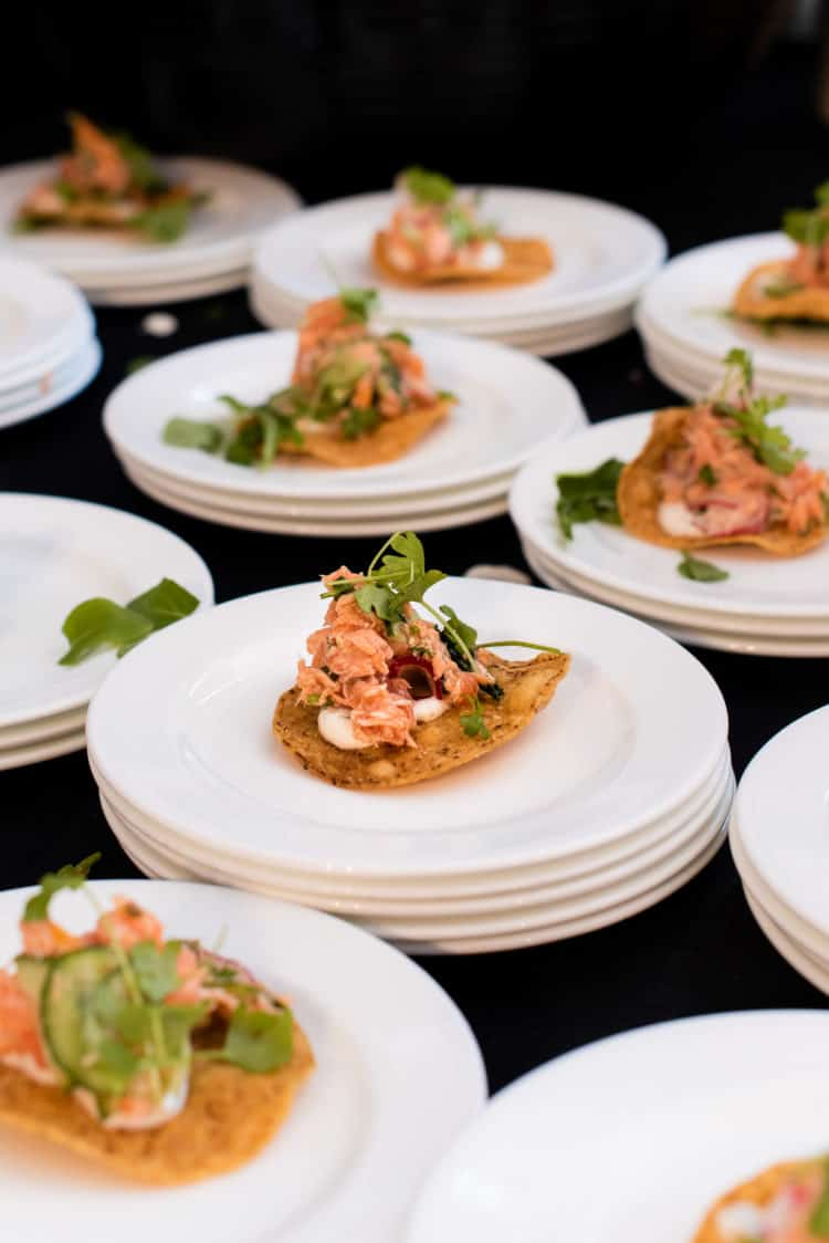 Smoked Ocean Trout from Chef Antonia Lofaso of DAMA Fashion District, PBFW Grand Tasting, 2019.