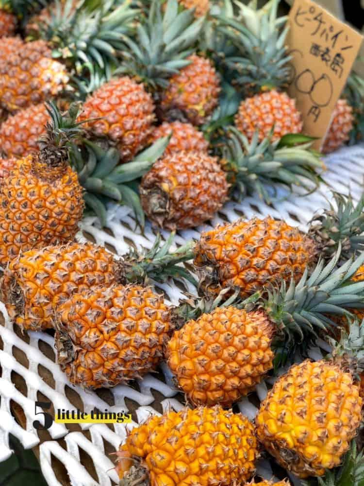 Okinawan pineapple in Okinawa, Japan.