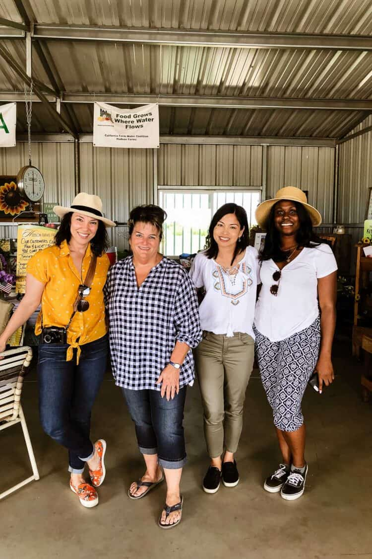 Meeting Liz Hudson of Hudson Foods at her farm stand in Central Valley, California.