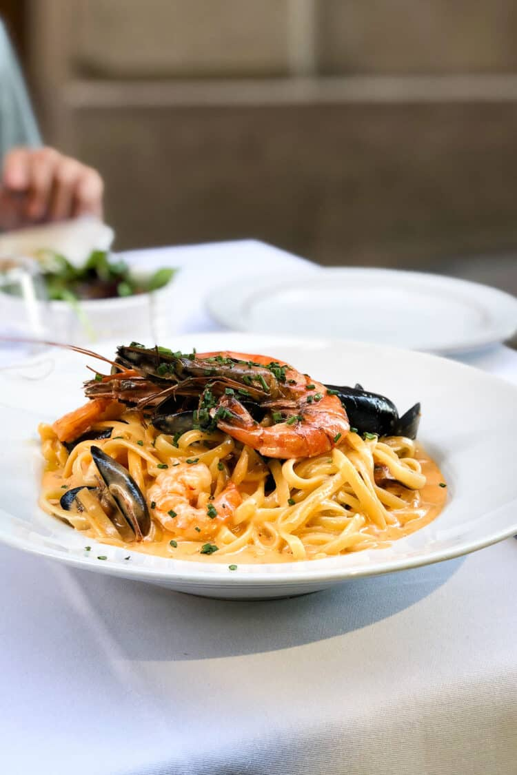 Plate of seafood pasta in Nice, France // Nice Travel Guide
