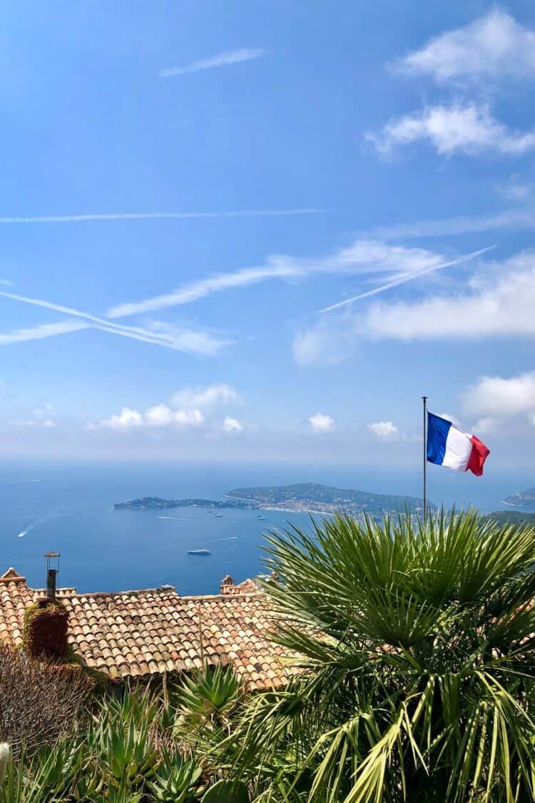 View of Mediterranean from Èze, France.