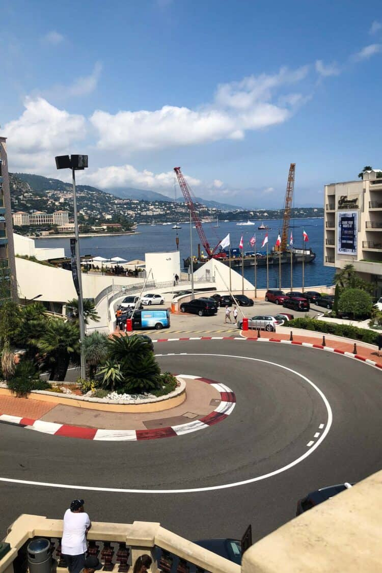 The winding streets used in the Monaco Grand Prix.