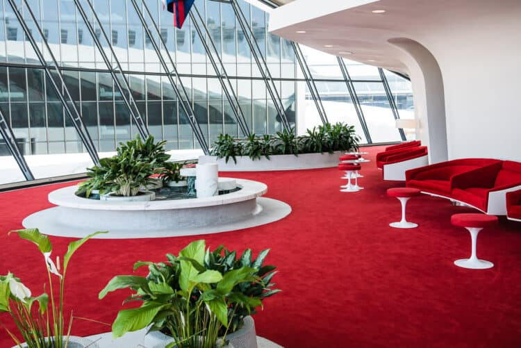 TWA lounges restored to its former glory.