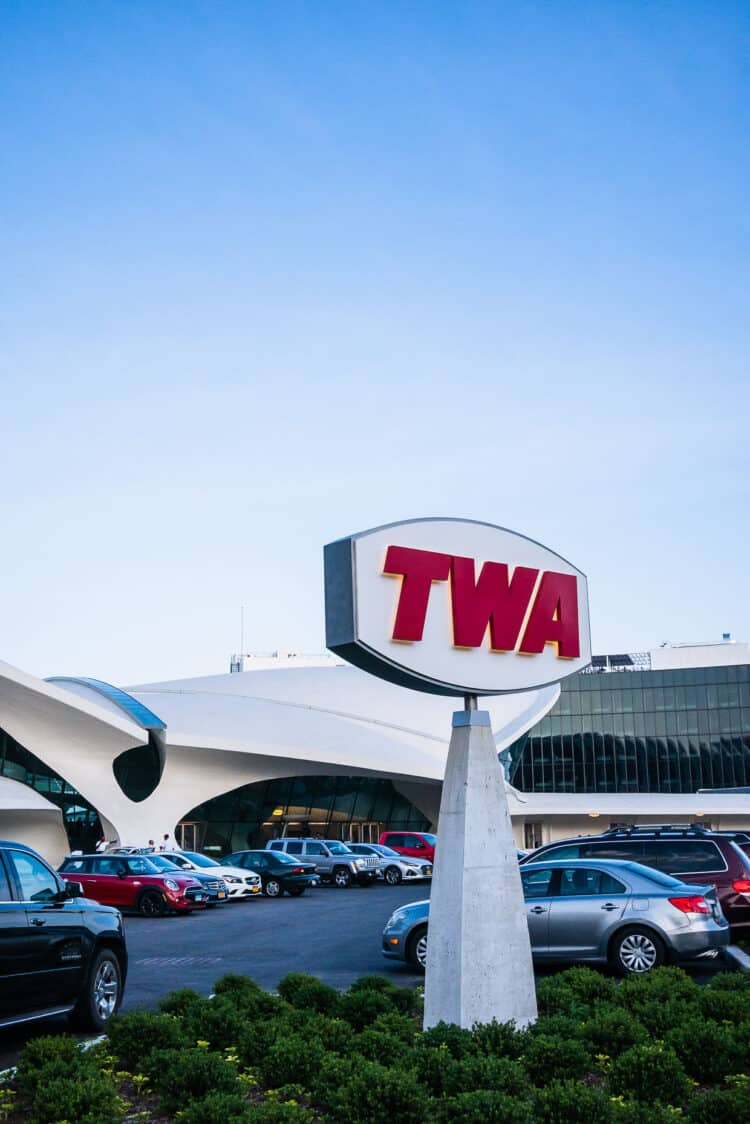 Exterior of TWA Hotel at JFK International Airport