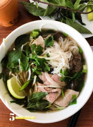 A bowl of pho is one Five Little Things I loved the week of August 23, 2019.