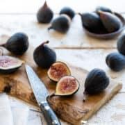 Figs on a cutting board.