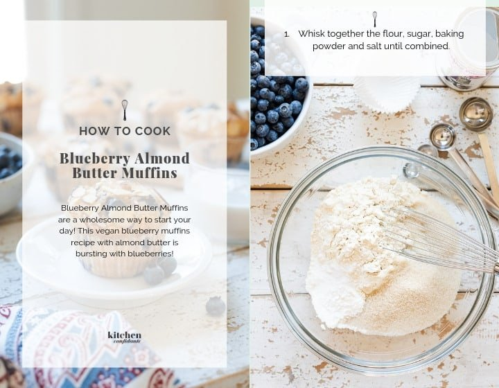 Step by step instructions for How to Make Blueberry Almond Muffins.