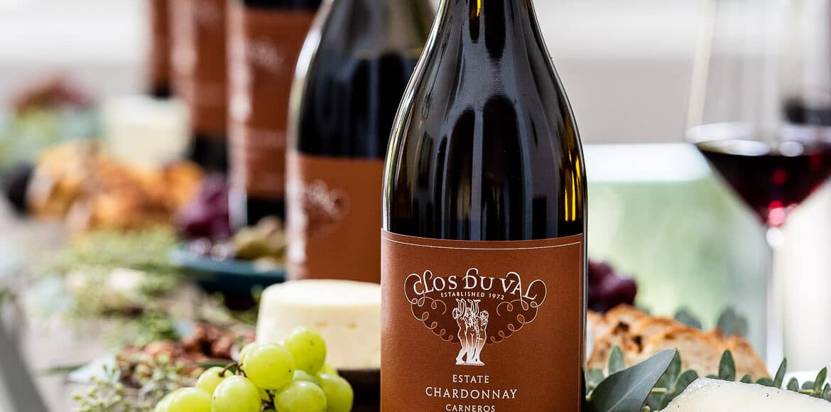 A flight of Clos du Val wines and cheese board for how to host a wine tasting party.