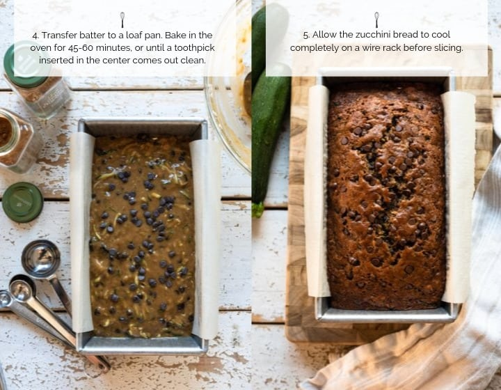 Steps 4-5 How to Make Zucchini Bread