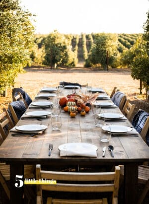 Dinner in the olive groves - one of Five Little Things I loved the week of October 25, 2019.