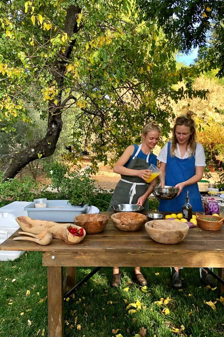 Cooking with Chef Meave McAuliffe and her sister and partner, Rory McAuliffe.