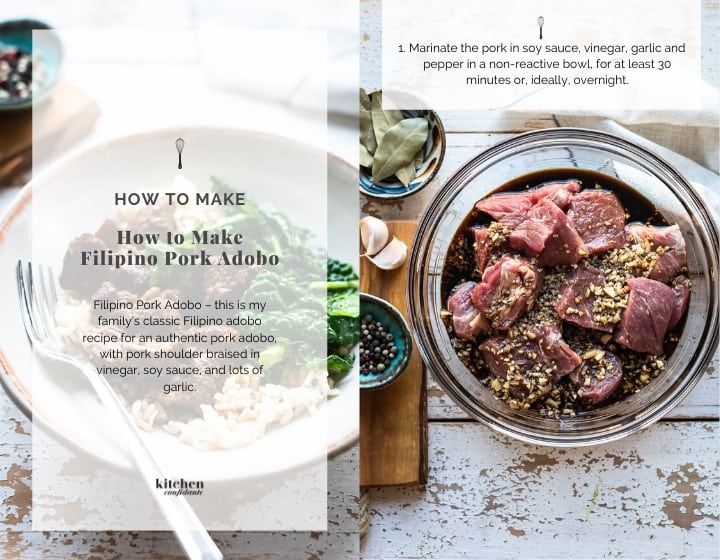 Step by step instructions for how to make Pork Adobo