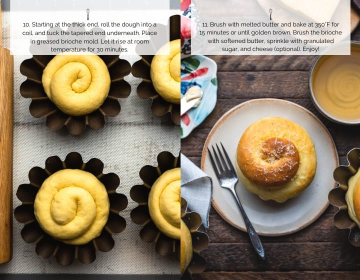 Step by Step Instructions for How to Make Ensaymada: Baking dough in brioche molds.