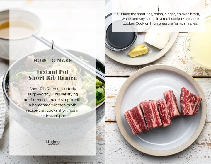 Step by step instructions for how to make Short Rib Ramen.