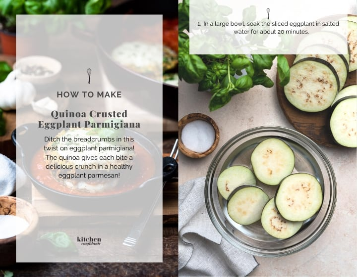 How to Make Quinoa Crusted Eggplant Parmigiana, step by step.