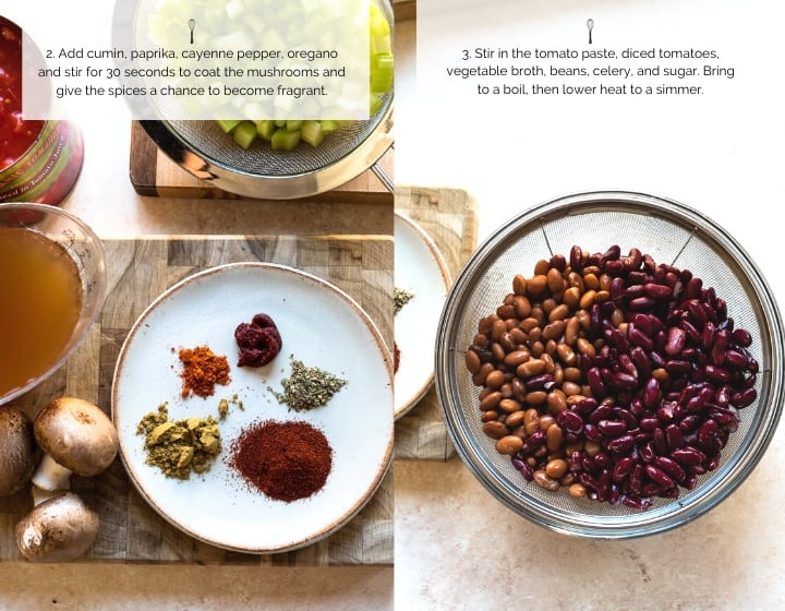 Step by step instructions for How to Make Vegan Chili