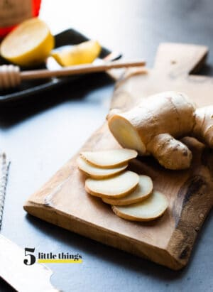 Slices of fresh ginger are one of Five Little Things I loved the week of March 13, 2020.